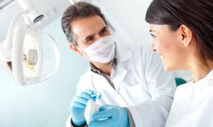 Dott. Massimo Carlini: Visita odontoiatrica e pulizia denti con otturazione e sbiancamento LED