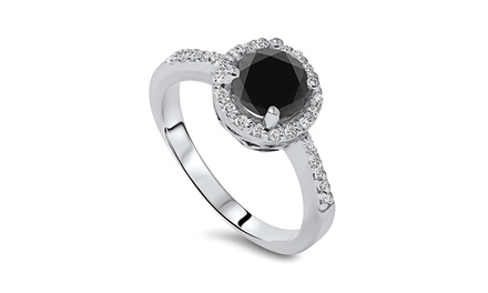 2.00 CTTW Black Diamond Ring in 14K Gold - by Bliss Diamond