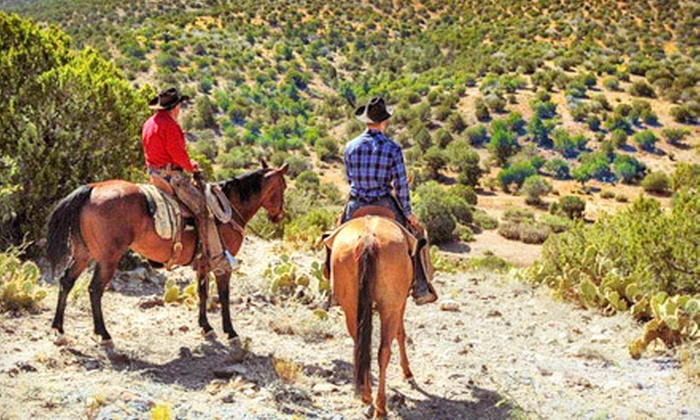 M Diamond Ranch - Lake Montezuma: Horseback Trail Rides with Cookouts, or Two-Hour Trail Rides at M Diamond Ranch (Up to 43% Off). Six Options Available.