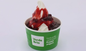 Verde Brio: Small Cup Italian Frozen Yoghurt + 1 Topping for One ($3) or Two Ppl ($5.80) at Verde Brio, Two Locations(Up to $9.80)