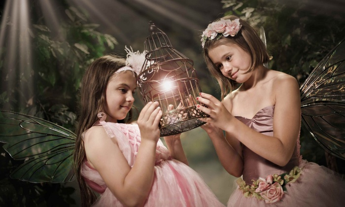 "My Fantasy Portrait - Troy: $25 for Enchanted Fairy Photo Shoot for Up to 4 Girls & 8""x10"" Print at My Fantasy Portrait ($150 Value)"