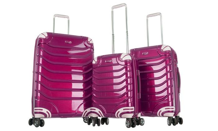 CY Luggage 3-Piece Hard-Shell Luggage Set | Groupon