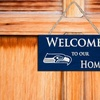 """NFL 12"""" Welcome Home Sign"""