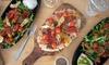Salade ou bruschetta au choix avec dessert et lambrusco