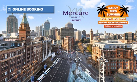 Sydney CBD: Early Bird Summer Stay for 1-3 Nights for Up to 2 Adults & 2 Children w/ Breakfast at 4* Mercure Sydney