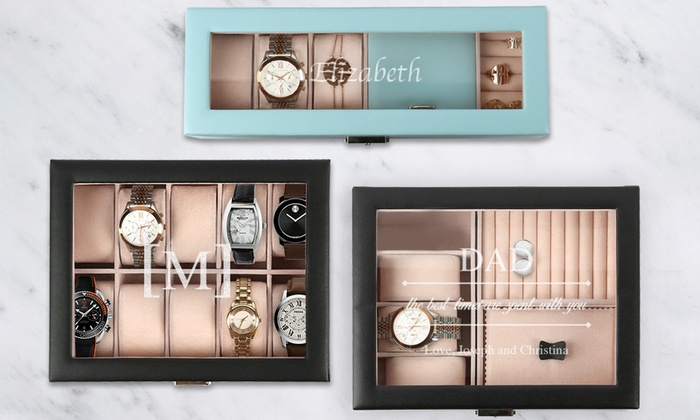 a1cf2fa25 Up To 53% Off on Personalized Jewelry/Watch Cases | Groupon Goods