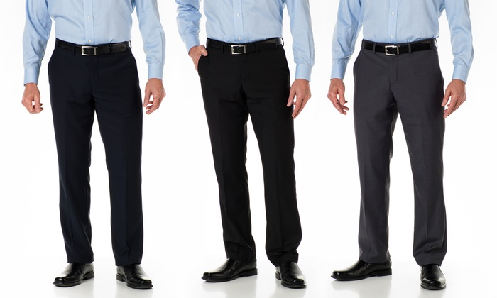 Alberto Cardinali Men's Tailored Slim-Fit Dress Pants: Alberto Cardinali Men's Tailored Slim-Fit Dress Pants