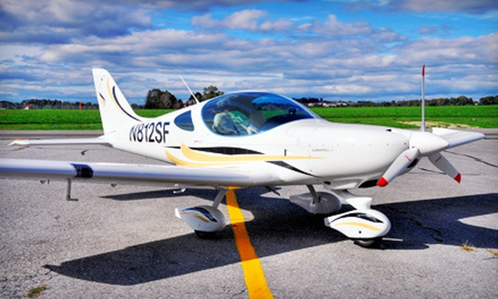 Sport Flying USA - Shirley: $139 for a 90-Minute Flight Adventure with Logbook and Commemorative Photo from Sport Flying USA ($350 Value)