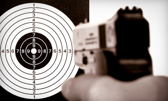 Home Defense Site - Bayonne: Six-Gun Shooting-Range Experience for One, Two, or Four at Home Defense Site (Up to 56% Off)
