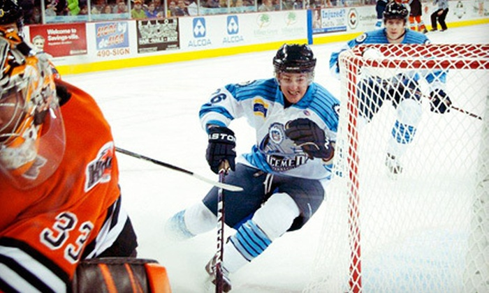 Evansville IceMen - Ford Center: Evansville IceMen Minor-League Hockey Game at Ford Center on Saturday, December 1, at 7:15 p.m. (Up to 53% Off)