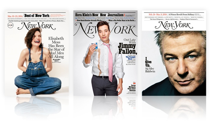 New York Magazine: 1-Year, 29-Issue or 2-Year, 58-Issue Print and iPad Subscription to New York Magazine Plus 5 or 10 Free Issues