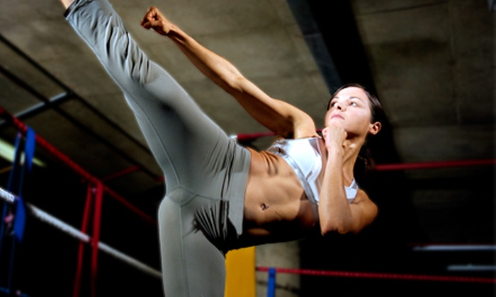 Elite Fitness Center - Multiple Locations: Adult Kickboxing, One-Month Gym Membership, or Kids' Karate at Elite Fitness Center (Up to 85% Off)
