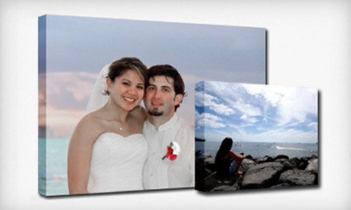 """Dollar General Photo Center: 16""""x20"""" Premium or Montage Canvas Print from Dollar General Photo Center (65% Off)"""