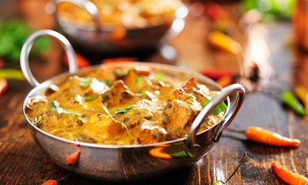 Indian Meal With Rice for Two or Four at India the Restaurant