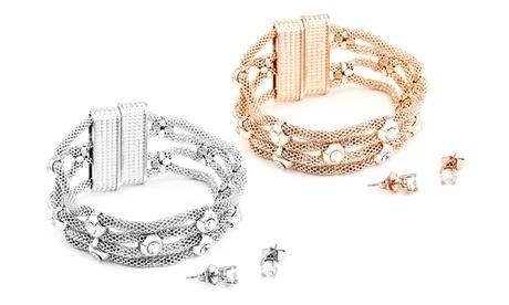Sets de pulsera y pendientes Hera con cristales de Swarovski®