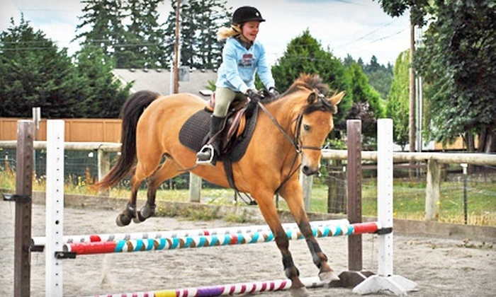 Pond-A-Luce-A Stables - Lakeland South: One or Three Private Horseback-Riding Lessons at Pond-A-Luce-A Stables (Up to 57% Off)