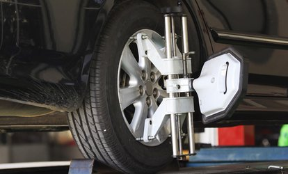 Wheel Alignment, Air Pressure Check and Tyre Cleaning from AED 99 at Manchester Tyre Trading Clinic (Up to 54% Off)