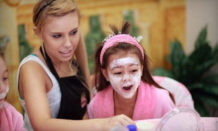 Diamond Girlz Salon & Spa - Fox Glen: Kids' Spa Package with Mini Mani-Pedis and Express Facials for One, Two, or Four at Diamond Girlz Salon & Spa (45% Off)