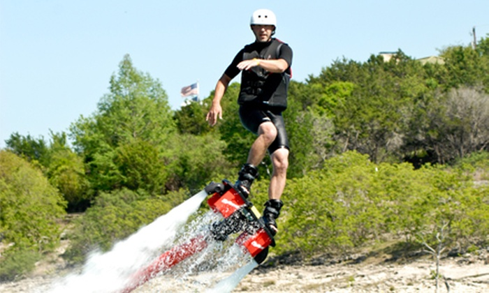 Texas Flyboard Rentals - South Canyon Lake: One-Hour Introductory Flyboarding Course for One or Two at Texas Flyboard Rentals (Half Off)