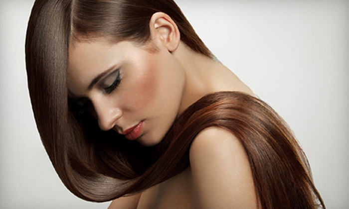 Mina's Salon - Plano: Brazilian Blowout with Option for Haircut at Mina's Salon (Up to 72% Off)