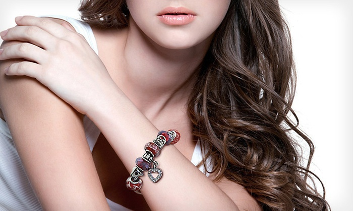 Charmed Feeling Murano Bead Bracelets: $12 for a Charmed Feeling Murano Bead Bracelet ($49 List Price). 18 Styles Available. Free Returns.