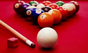 Blue Cue: $17 for Two Hours of Pool for Up to 10 People and One Large Pizza at Blue Cue (Up to $36 Value)