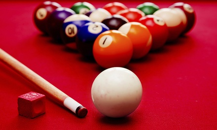 $17 for Two Hours of Pool for Up to 10 People and One Large Pizza at Blue Cue (Up to $36 Value)