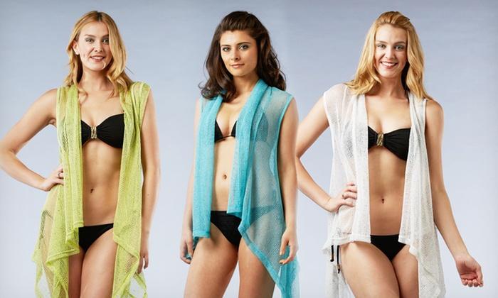 $19.99 for Kaktus Women's Sleeveless Shrug. Multiple Colors Available. Free Shipping and Returns