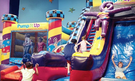 Three Pop-In Playtime or Family Fun Night Bounce-House Admissions at Pump It Up (52% Off)