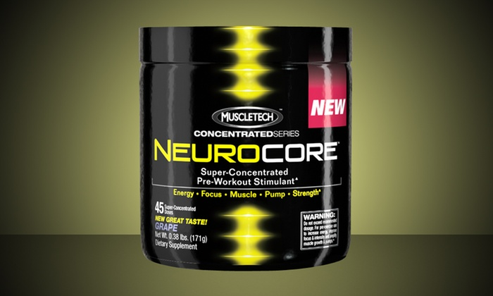 MuscleTech NeuroCore Preworkout Supplement: 45 Servings of MuscleTech NeuroCore Preworkout Supplement in Grape