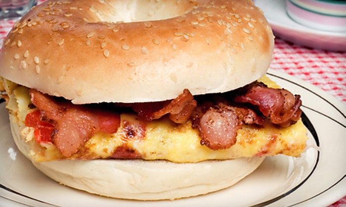Bagel Schmagel - Bay Ridge & Fort Hamilton: Three Breakfast Sandwiches and Large Coffees or One or Two Dozen Bagels with Spreads at Bagel Schmagel (Up to $64% Off)
