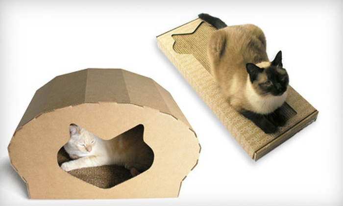 Kittypod Cat Furniture: Kittypod Scratch Pad, Dome, or Bed and Scratcher Designed by Elizabeth Paige Smith (Up to 40% Off). Shipping Included.