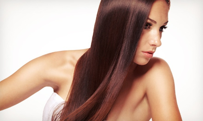 La Simpatica Salon - Upper Salford: Haircut with Optional Highlights or Full Color, or Straightening Treatment at La Simpatica Salon (Up to 69% Off)