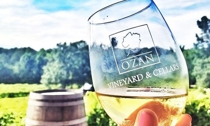 Ozan Vineyard & Cellars - Calera: Wine Tasting for Two with Glasses and Option for Tour and Cheese Plate at Ozan Vineyard & Cellars (Up to 62% Off)