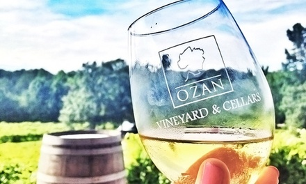 Wine Tasting for Two with Glasses and Option for Tour and Cheese Plate at Ozan Vineyard & Cellars (Up to 55% Off)