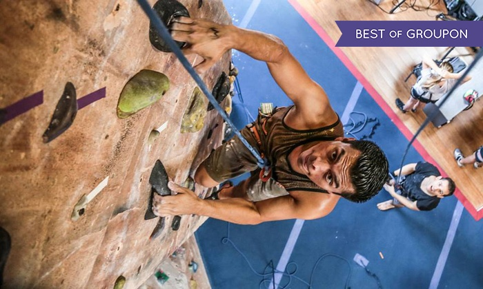 Rockreation - Costa Mesa: Intro to Rock-Climbing Class for One or Two or Climbing Series for One at Rockreation (Up to 51% Off)