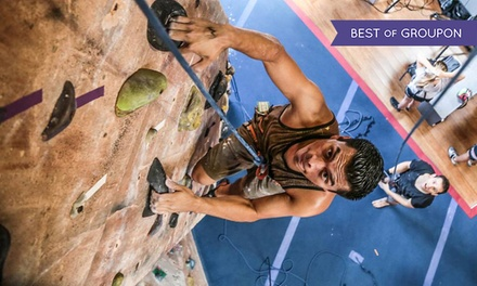 Intro to Rock-Climbing Class for One or Two or Climbing Series for One at Rockreation (Up to 51% Off)