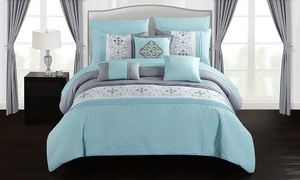 Barrett Printed Comforter Set with Panels and Sheets (20-Piece)