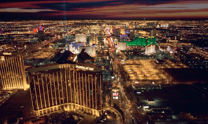702 Helicopters - North Las Vegas: Helicopter Tour of the Strip for Up to 3 or Tour for Up to 3 with Magic Show from 702 Helicopters (Up to 74% Off)