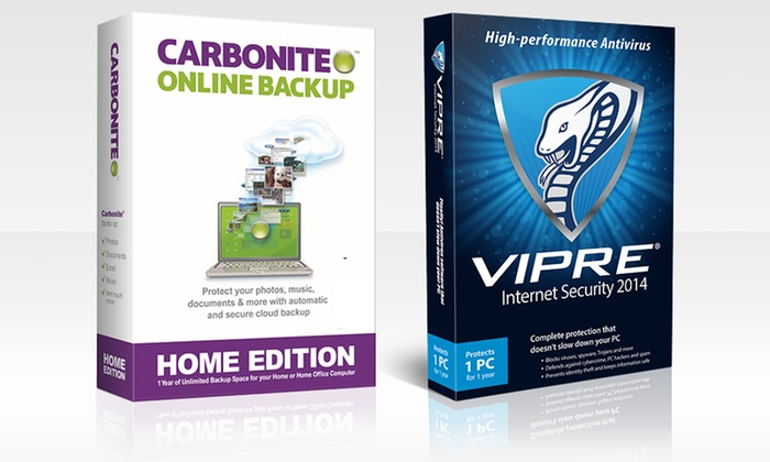 Carbonite Computer Backup and Internet Security Bundles: Computer Back-Up and Internet Security Bundles from Carbonite and VIPRE (Up to Half Off). Multiple Bundles Available.