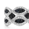 1/3 CTTW Black and White Diamond Ring