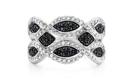 1/3 CTTW Black and White Diamond Ring