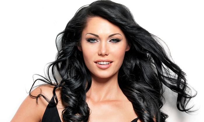 B' Polished Salon - Broken Arrow: Women's Cut, Conditioning, and Eyebrow Wax with Optional Highlights, or Men's Cut at B' Polished Salon (Up to 53% Off)