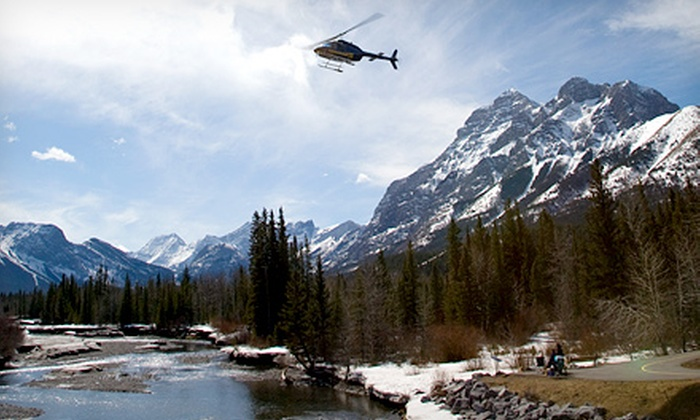 Kananaskis Heli Tours - Clearwater County: Helicopter Tour and Wilderness Stop with Champagne and Photos for Two or Four from Kananaskis Heli Tours (55% Off)