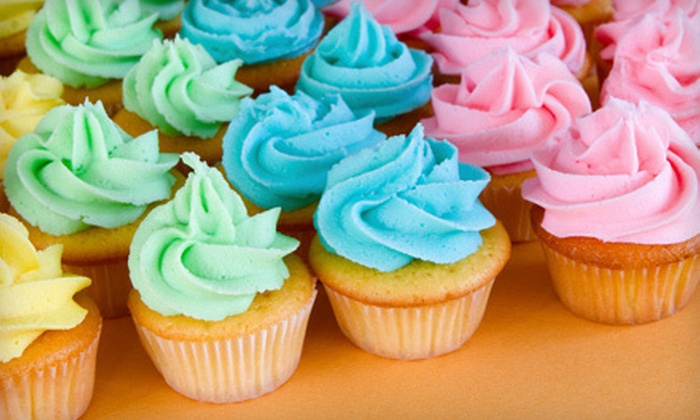 Frosted Conspiracy Cupcakes & More - Houston: Two Dozen Cupcakes or a Cupcake Bar with 48 Cupcakes from Frosted Conspiracy Cupcakes & More (Up to 63% Off)