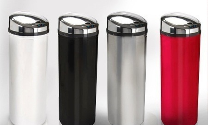 Groupon Goods Global GmbH: Stainless Steel Automatic Sensor Bin from £44.99 With Free Delivery (Up to 68% Off)