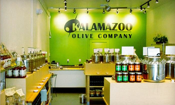 Kalamazoo Olive Company - Dunedin: Six-Bottle Sampler or $12 for $25 Worth of Artisan Olive Oils and Vinegars at Kalamazoo Olive Company