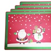 Dainty Home Set of 4 Holiday-Themed Foam Placemats