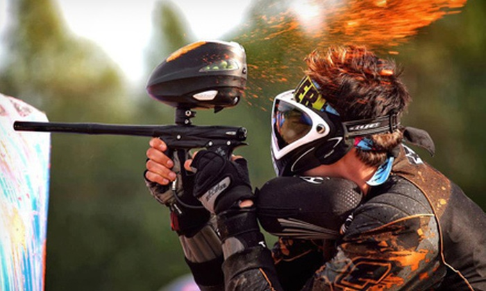 5J Extreme Sports - Spring: Paintball Outing with Equipment Rental and 250 Paintballs for Two, Four or Eight at 5J Extreme Sports (Up to 59% Off)