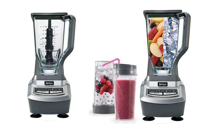 Ninja BL740 Professional Blender Set with Single-Serve Cups (4-Piece)